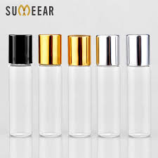 (<b>100PCS</b>/Lot) <b>2ML 3ML 5ML</b> Clear Glass Essential Oil Bottle Vial ...