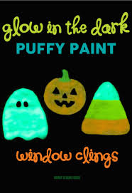 love halloween window decor: glow in the dark halloween window clings