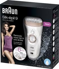 <b>Эпилятор Braun</b> Silk-epil 9 <b>9-561</b> Wet & Dry с 6 насадками