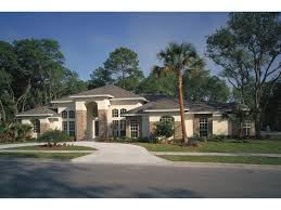 Palm Aire Adobe Style Home Plan D    House Plans and MoreLarge Hip Roof And Horizontal Style Make A Perfect Prairie Design