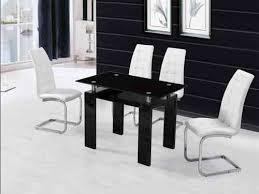 black high gloss dining table