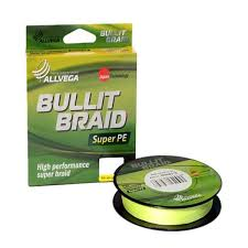 <b>Рыболовная леска ALLVEGA</b> Bullit Braid 135м 0,10 желтый ...