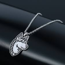 QIMING <b>10pcs Women Pendant Necklace</b> Siberian Husky <b>Jewelry</b> ...