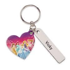 Disney Princess Heart <b>Leather Keychain</b> - Personalizable ...