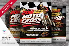 motocross flyer templates flyer templates on creative market