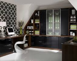 awesome cabinets for home office with elegant design in black and brown finish brown finish home office