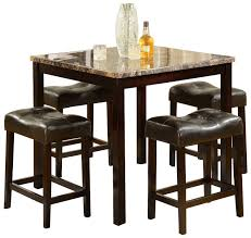 table bar height chairs diy: zuma bar height dining table set sneakergreet com clipgoo