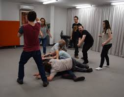 about us improvisation sketch comedy theatre acting classes as seen in this action shot william pridmore sara cooper rick mourant jeffrey michel quinn griggs jon lenthall and samantha lush to a