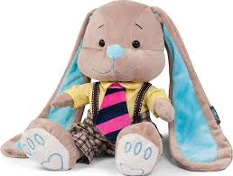 jack lin мягкая игрушка зайка в синем платье 25 см