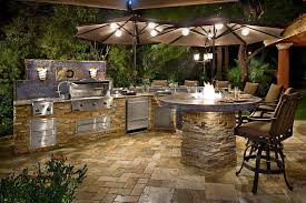 patio outdoor stone kitchen bar: outdoor  awesome outdoor kitchen designs and ideas
