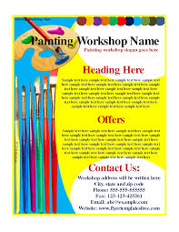 6 best images of painting flyers samples painting workshop flyer painting workshop flyer template