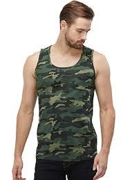 Buy WYO <b>Men's Camouflage</b> Sleeveless <b>Casual</b> Cotton Sports Gym ...