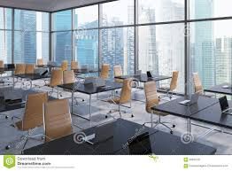 workplaces in a modern corner panoramic office singapore business city view open space business office modern
