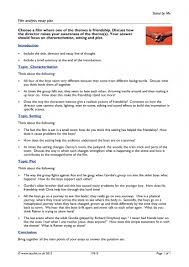 film analysis essay plan general film home page resource thumbnail