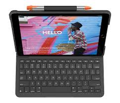 Logitech Slim Folio Keyboard Case <b>for iPad</b> (5th, 6th, & 7th ...