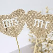 <b>2pcs</b>/<b>set</b> Heart Shape Burlap Hessian Flag <b>Vintage</b> Style Wedding ...