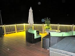 deck and balcony design with led lighting traditional porch balcony lighting ideas