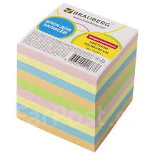 <b>Блок</b> для записей <b>Brauberg</b> непроклеенный, куб 9х9х9 см ...