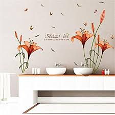 HN Flower Wall Stickers Removable Decal Home ... - Amazon.com