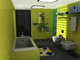 Contoh model kamar mandi minimalis hijau