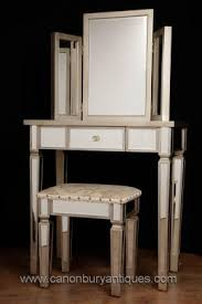 art deco mirrored dressing table stool set bedroom furniture art deco mirrored furniture