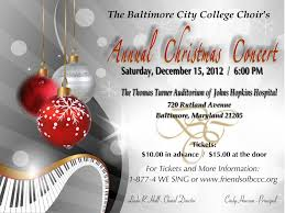 christmas concert flyer related keywords suggestions christmas baltimore city college university of logo view original