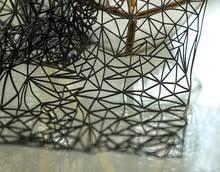 Black 49*43CM <b>Stereoscopic 3D</b> Art hollow Polyester dress fabric ...