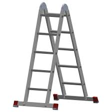 <b>Лестница</b>-<b>трансформер</b> алюминиевая 2х5 ступеней, высота <b>2</b>,9 м