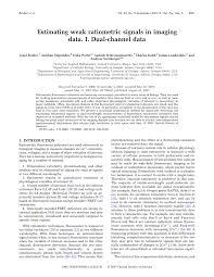 Estimating weak ratiometric signals in imaging data. I. <b>Dual</b>-<b>channel</b> ...