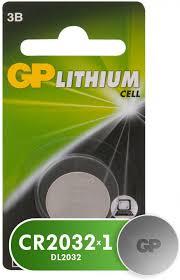 Литиевые <b>батарейки GP</b> (3V), дисковые, 1 шт. (<b>CR2032</b>-CR1 ...