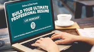build your ultimate professional resume workshop