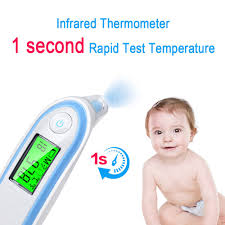 LCD Digital Infrared Baby Thermometer <b>Non</b>-<b>contact Ear Forehead</b> ...