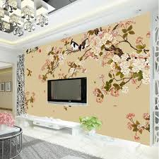 room elegant wallpaper bedroom: vintage bird and flower wallpaper custom d wall mural elegant photo wallpaper kids girls bedroom room
