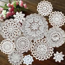 Super Design 12Pcs 100% <b>Cotton</b> Hand Made Crochet Doilies Cup ...