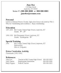 example of a simple resume  sample simple resume examples  basic    high school student resume template example