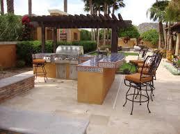 single outdoor patio bar