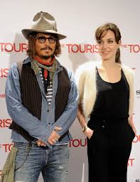 Photo of Angelina Jolie & her friend actor  Johnny Depp - The Tourist