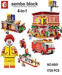 Buy AdiChai 1729 Pcs <b>Sembo</b> Blocks McDonald's Restaurant Model ...