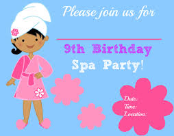 spa birthday party invitations printable pool design ideas spa birthday party invitations printable