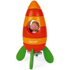 Купить <b>Конструктор Janod магнитный</b> Кролик в ракете (6 ...