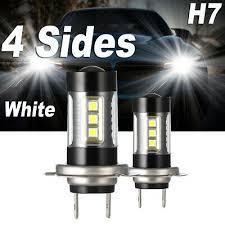 <b>H7 4 Sides LED</b> Headlight Bulbs <b>120W</b> 32000LM Conversion Kit ...