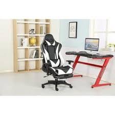 Shop Brage Living <b>PU Leather</b> Lumbar Support Gaming Chair - <b>Free</b> ...