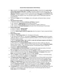 unit four ancient rome unit review amp test overview ancient rome study guide for world history
