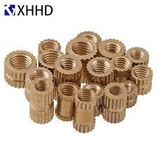 <b>M3</b> Copper Inserts Double Pass <b>Brass Knurl</b> Nut Round Thread ...