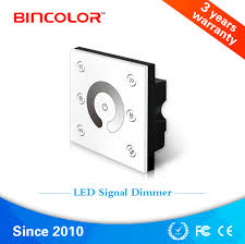 bc p1 led touch panel signal dimmer for strip light dc12v 24v 0 1 10vanalog pwm5v pwm10v signal 2ch wall mounted
