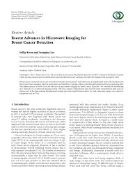 (PDF) Recent Advances in Microwave Imaging for Breast Cancer ...