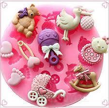 Wholesale <b>Cute Baby Bear</b> Trojan <b>Silicone</b> Fondant Cake Mold ...