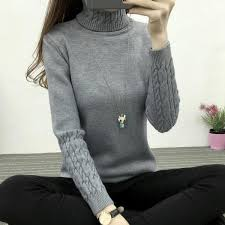 Autumn and <b>Winter Women Sweaters</b> and Pullovers <b>Turtleneck</b> ...