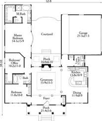 U SHAPED HOUSE PLANS WITH POOL IN THE MIDDLE   COURTYARD    small u shaped house plans   First Floor Plan of House Plan by jana