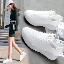 <b>Breathable net shoes</b> small white women s <b>summer</b> running ...